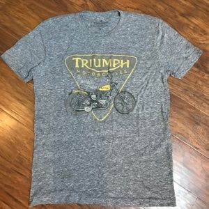 TRIUMPH Lucky Brand Motorcycle Vintage Style Tee S